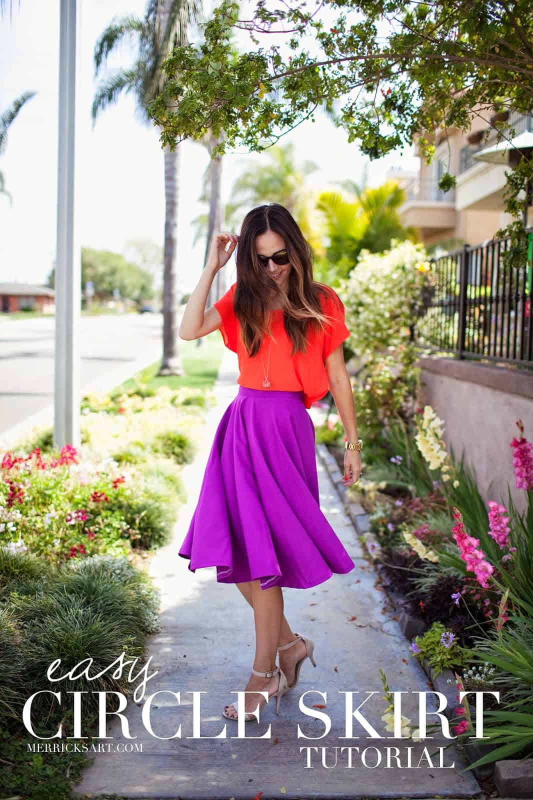Easy knee length circle skirt