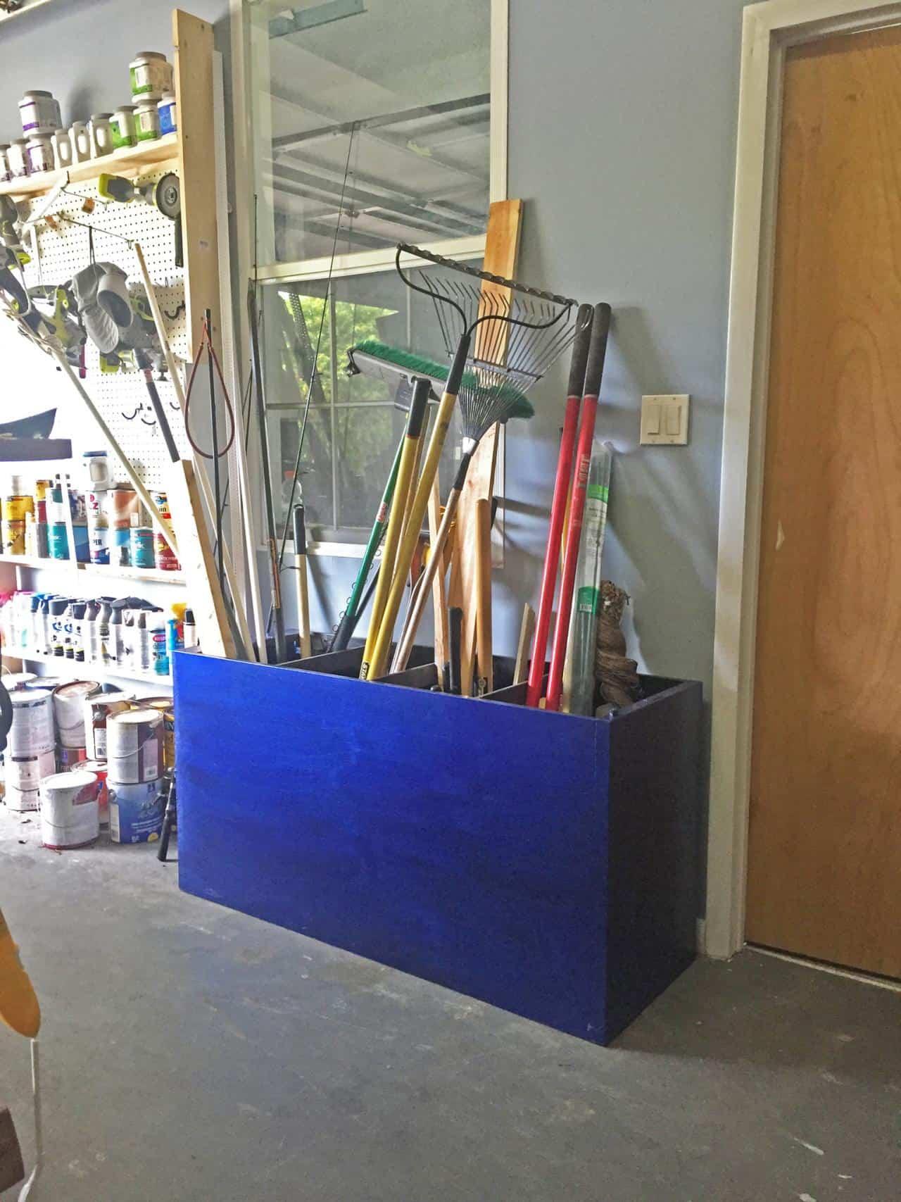 Filing cabinet garage storage
