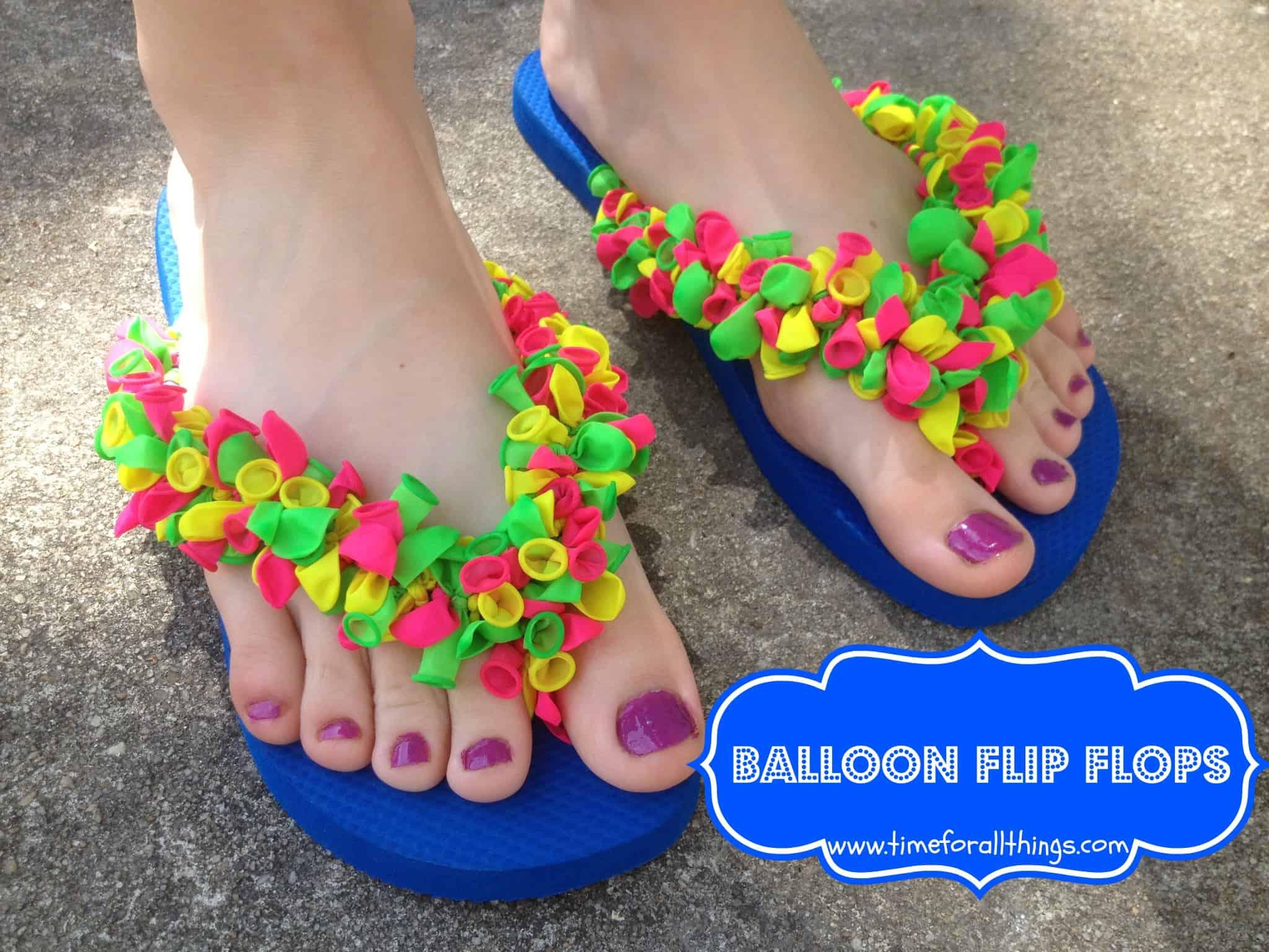 Funky balloon flip flops