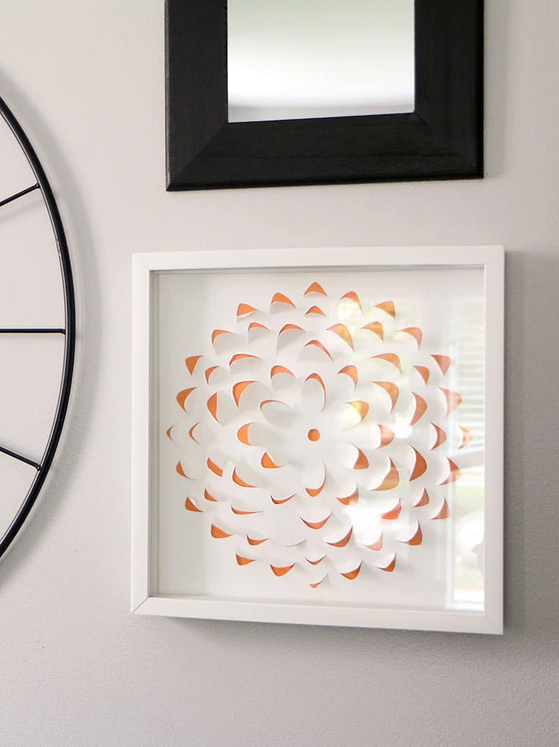 DIY 3-D Flower Artwork