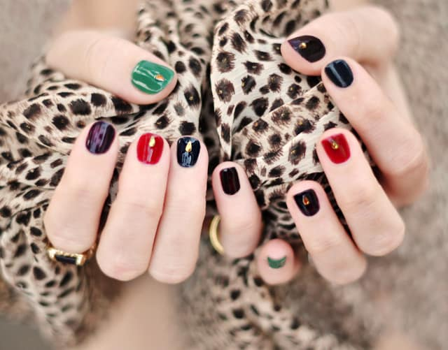 Jewel tone nails jewel manicure