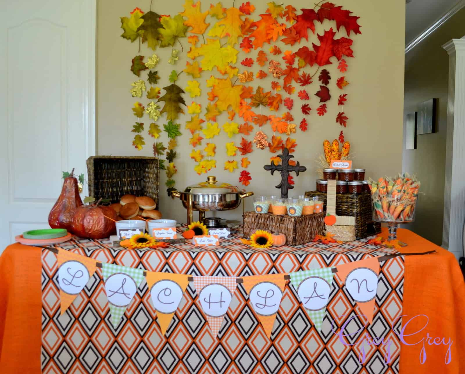 Whimsical fall baby shower ideas