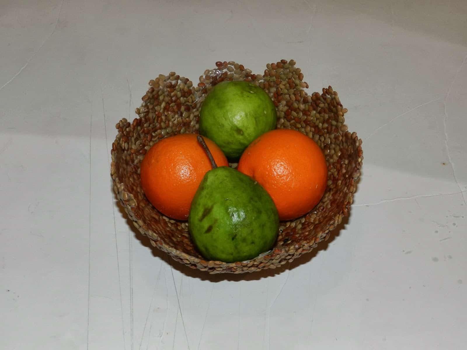 Lentil fruit bowl