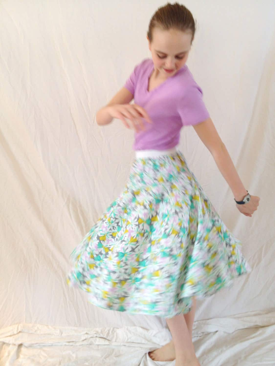 Long twirling circle skirt
