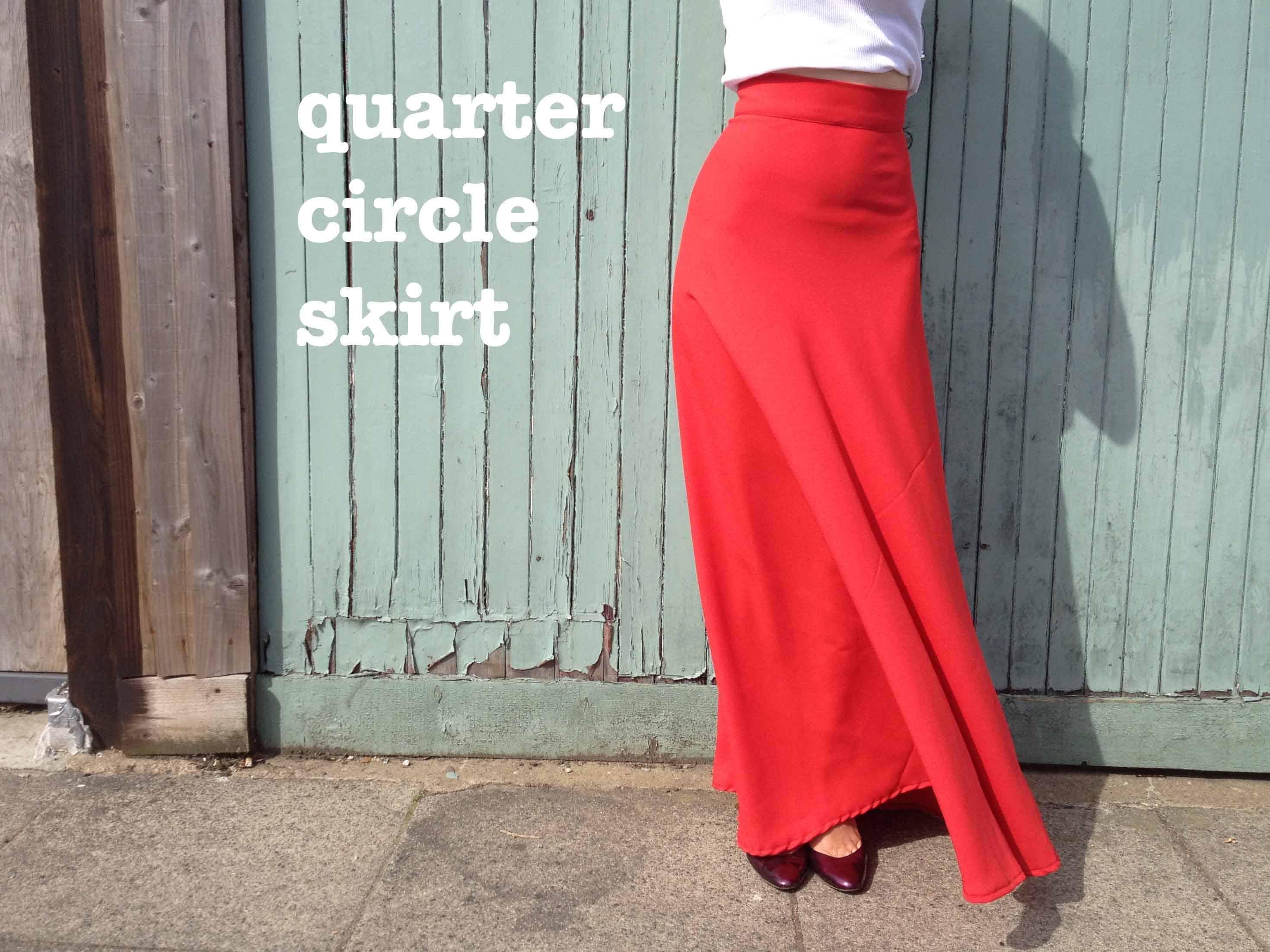 Maxi quarter circle skirt