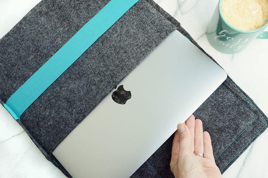 Modern diy felt laptop case