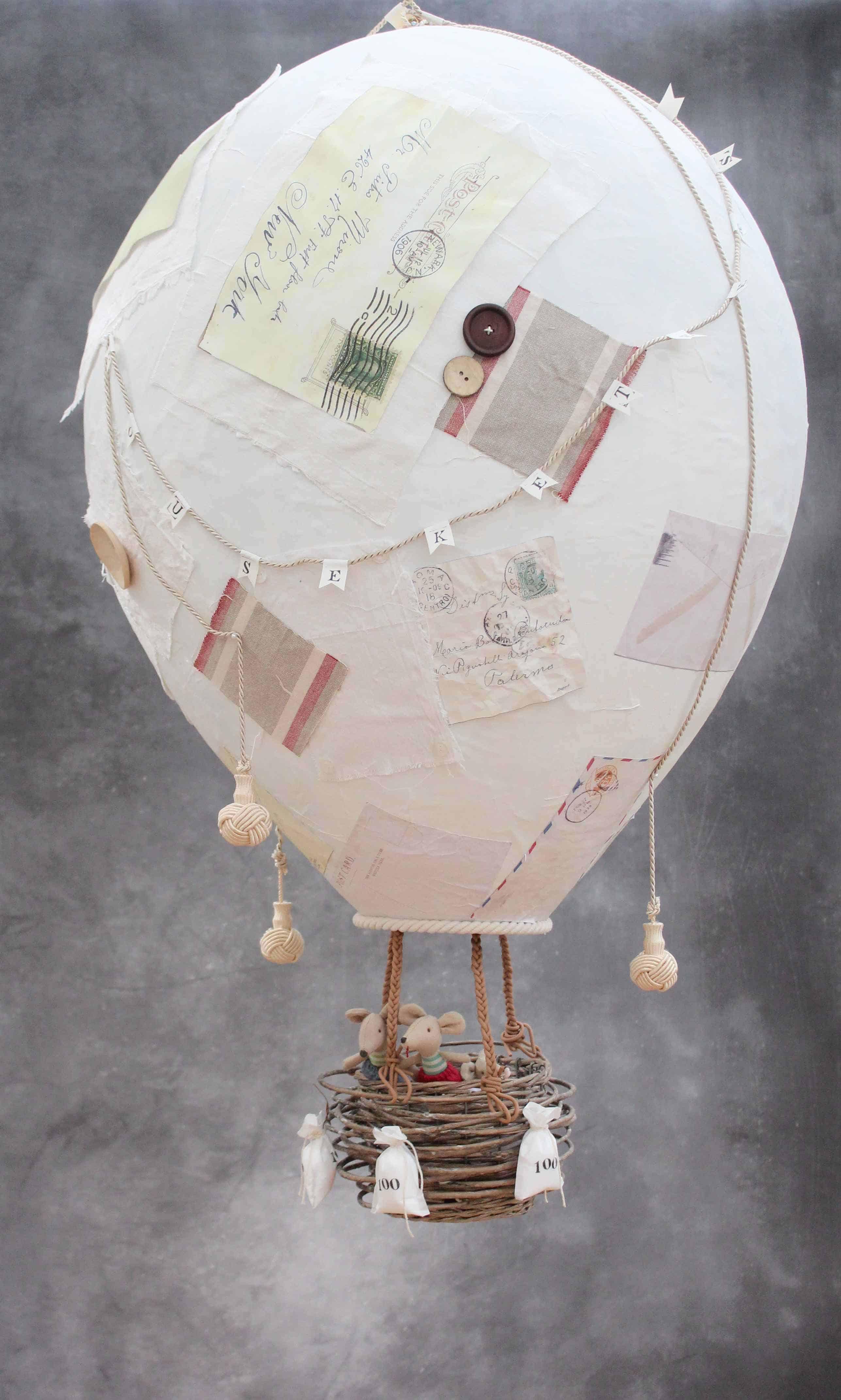 Paper mache hot air balloon