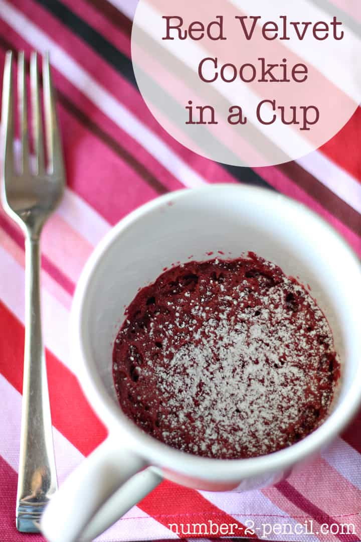 Red velvet cookie in a cup