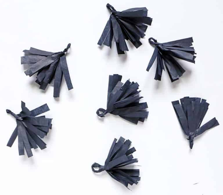 Rosette pumpkin garland diy mini tassels
