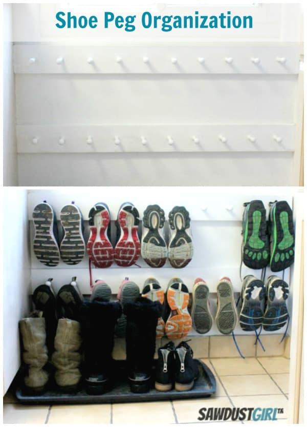 Shoe pegs