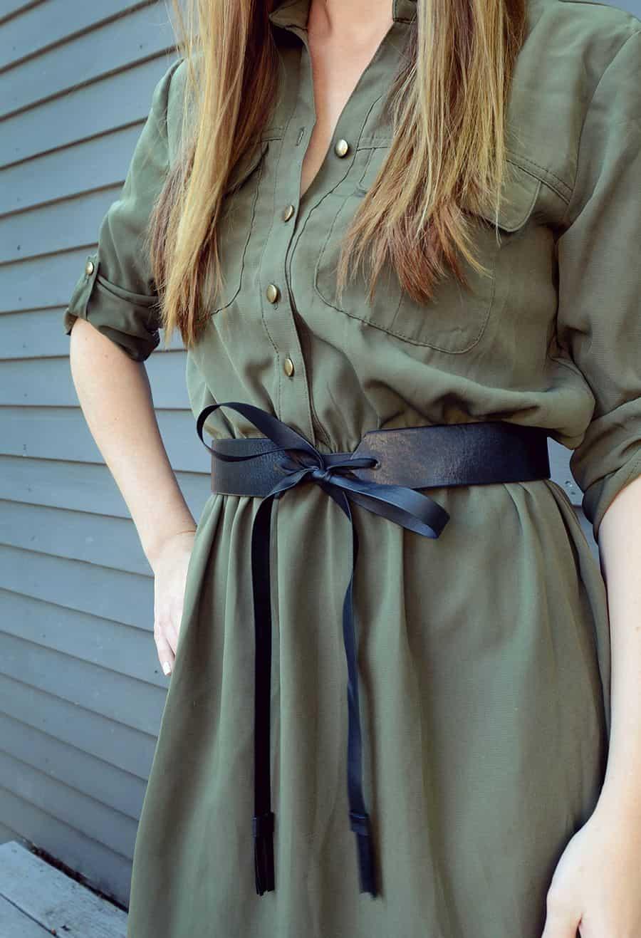 Simple diy leather tie belt