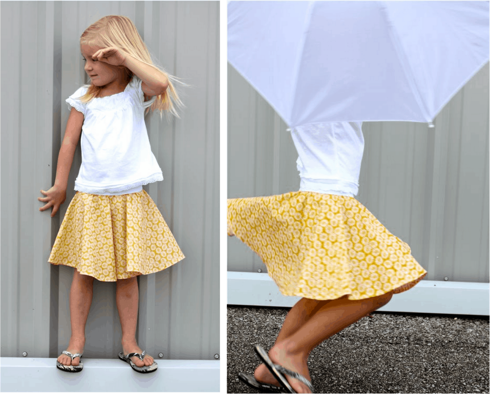 Simple circle skirt for little girls
