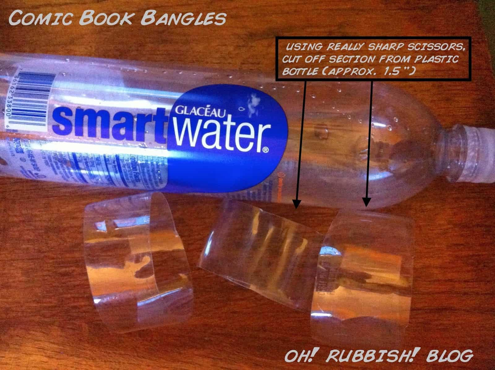 Water bottle comic book bangles