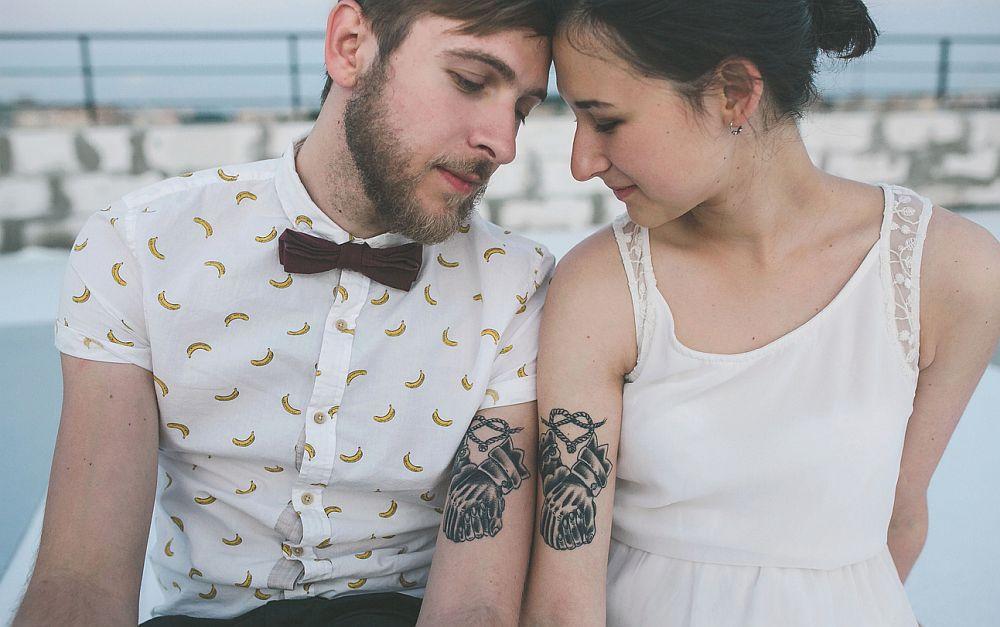 Wedding tattoos ideas – beautiful couple