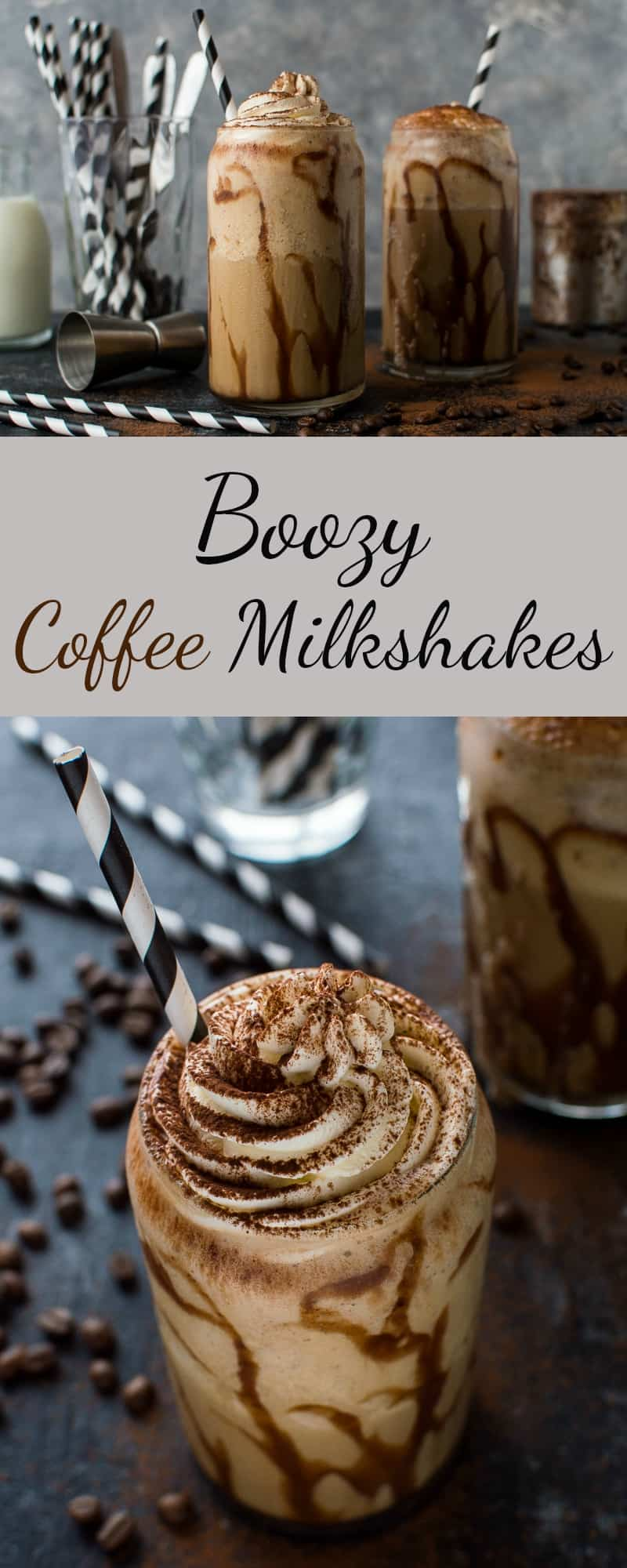 Boozy coffee milkshakes pinterest