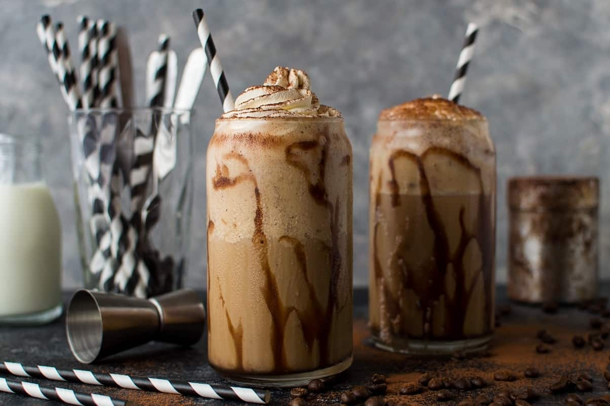 Boozy coffee milkshakes - get your caffeine and your sugar fix with this indulgent grown-up treat!