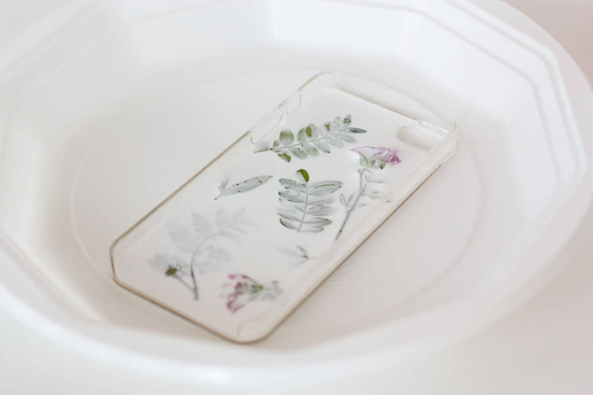 Botanical iphone case diy glue