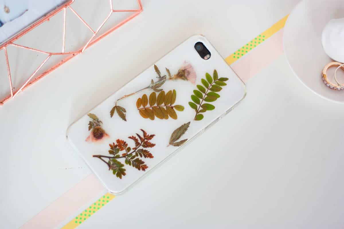 Botanical iphone case diy set1