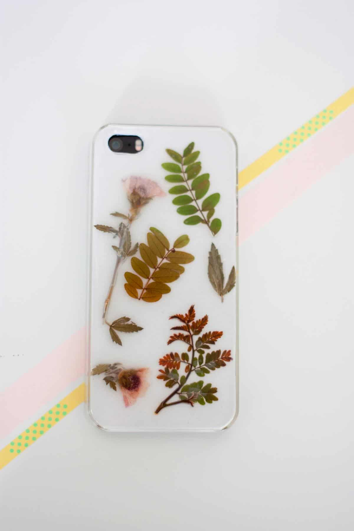 Botanical iphone case diy set4