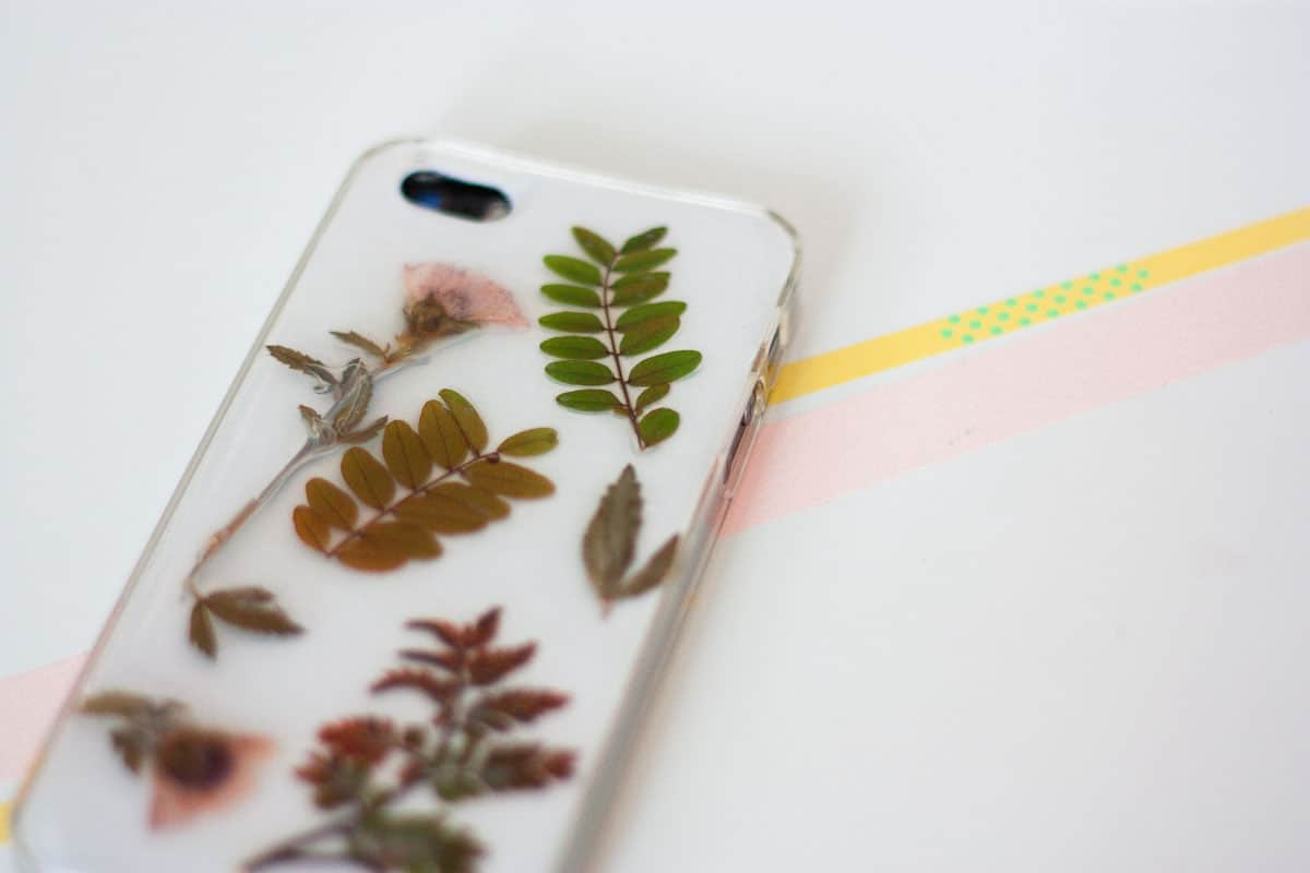 Botanical iphone case diy set5