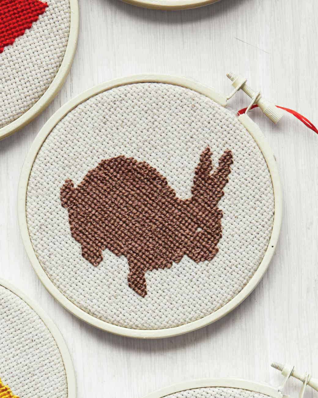 Bunny cross stitch diy