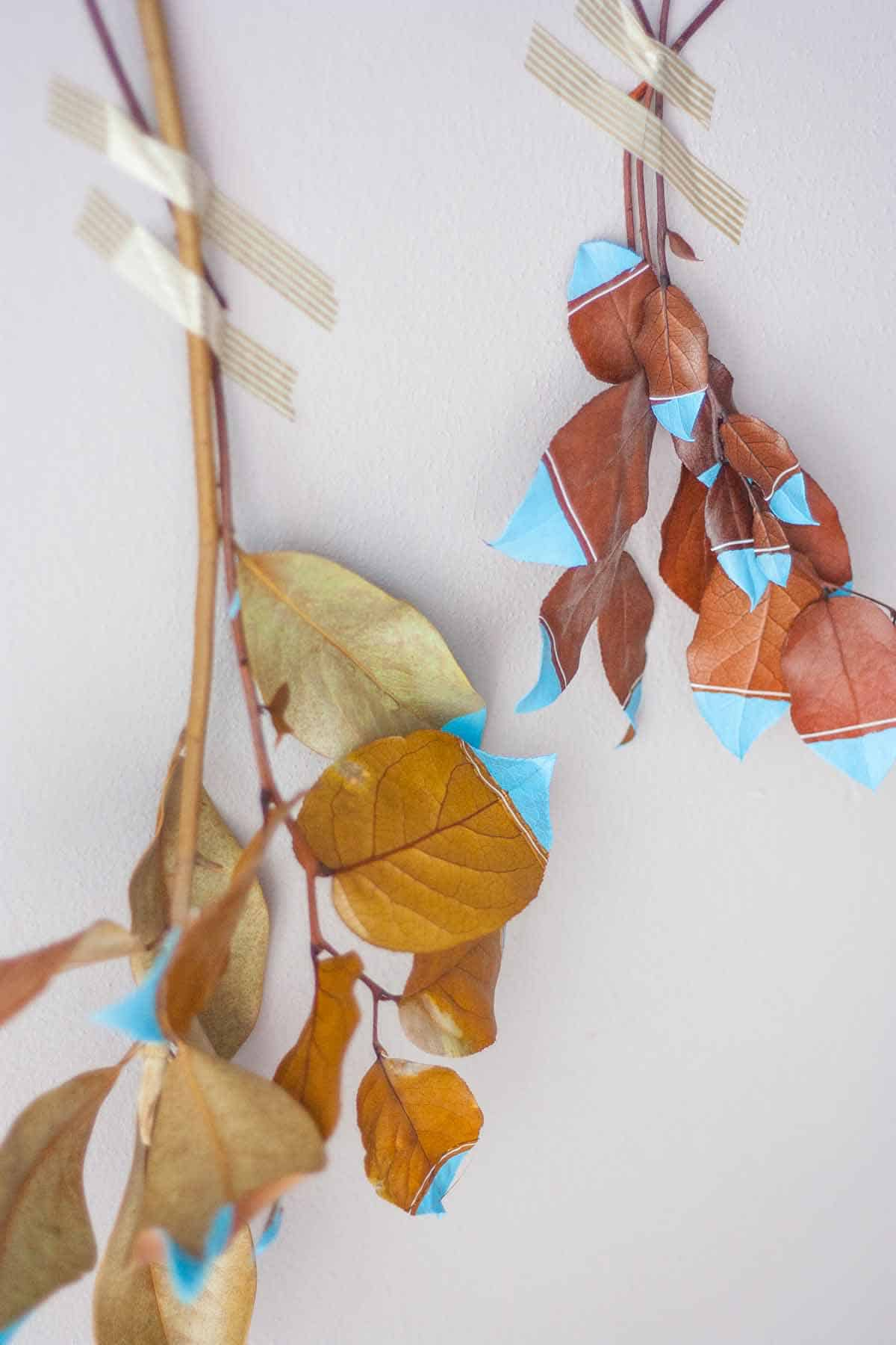 Fall leaf wall hanging set1