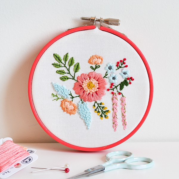 Floral bouquet cross stitch