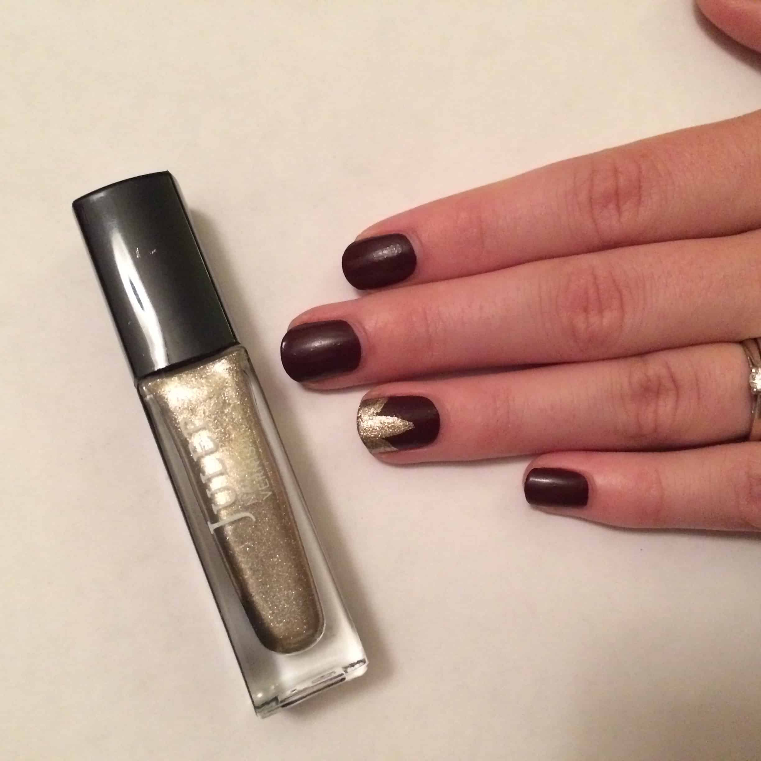Golden leaf fall nail tutorial