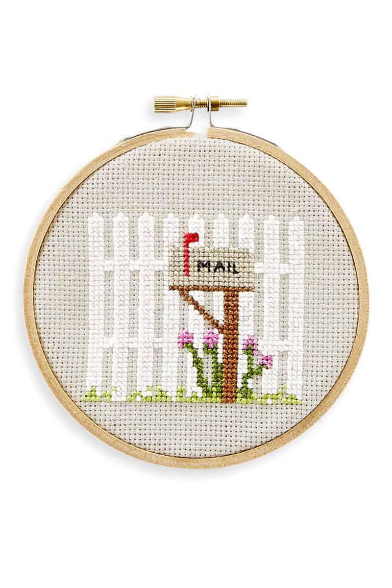 Mailbox cross stitch pattern