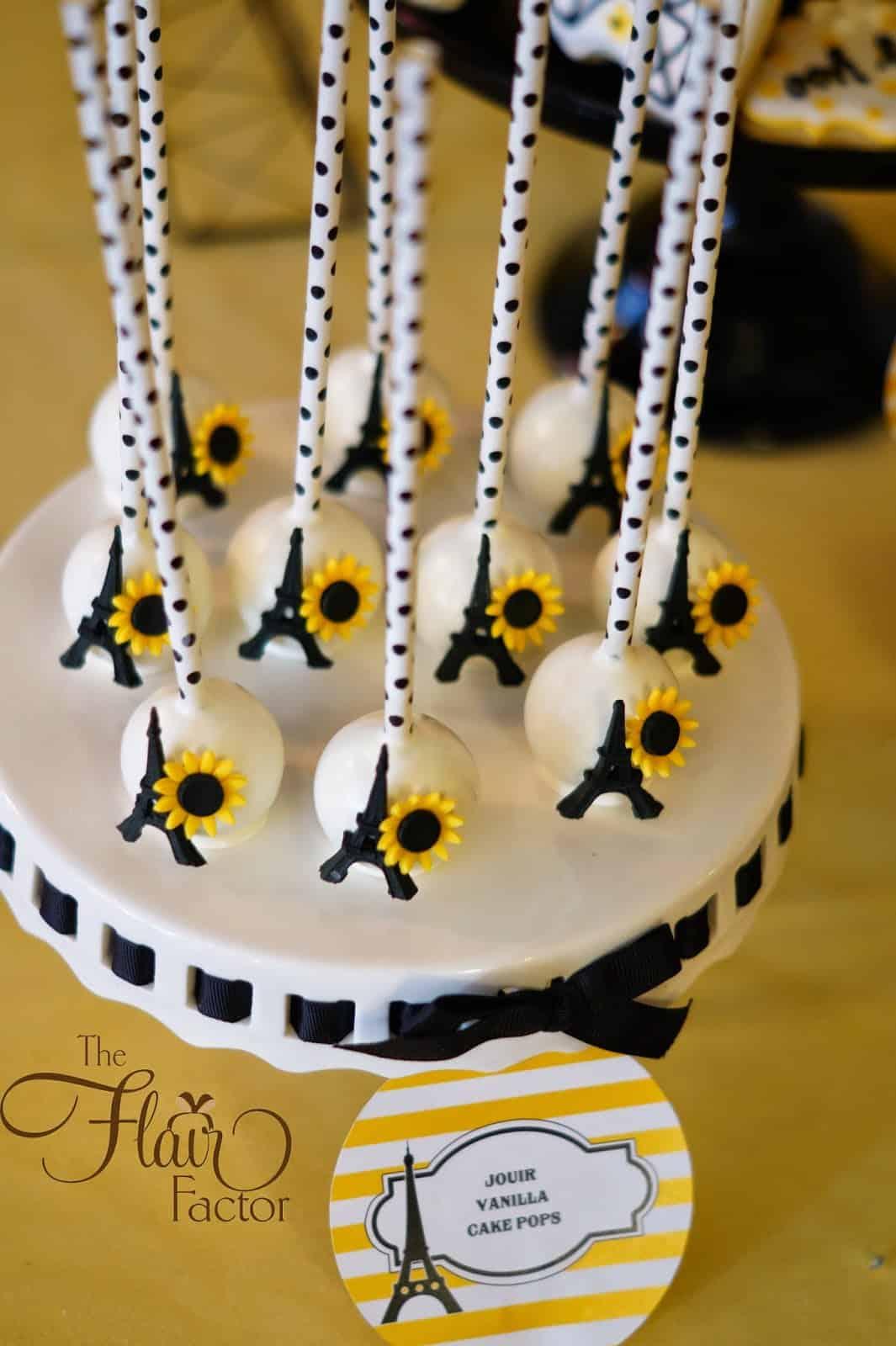 Parisian sunflower baby shower