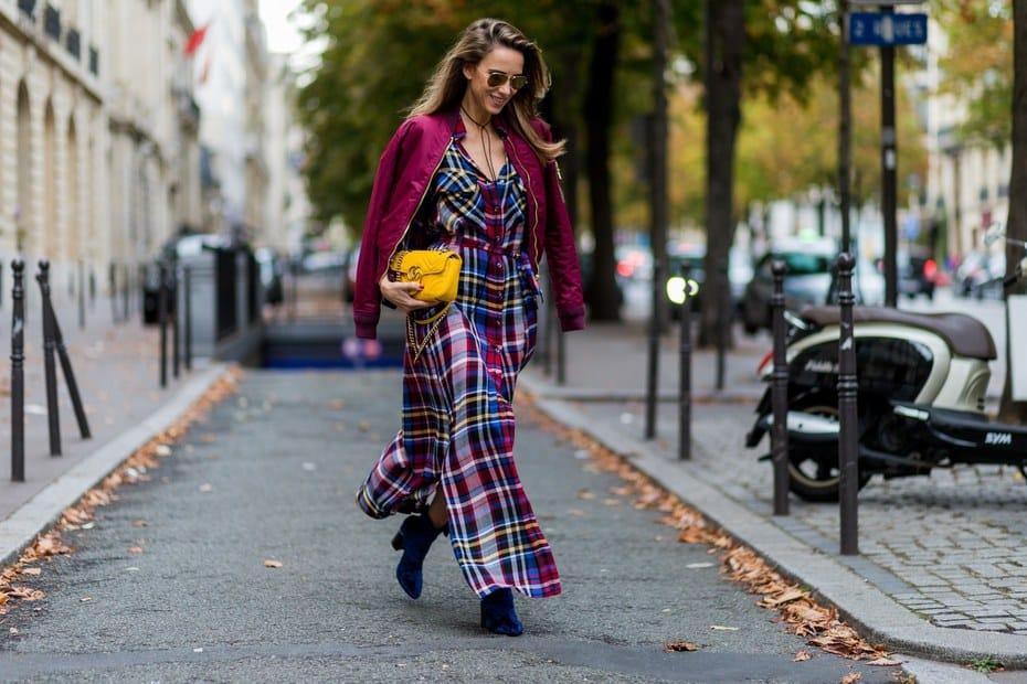 Plaid dress outfit idea