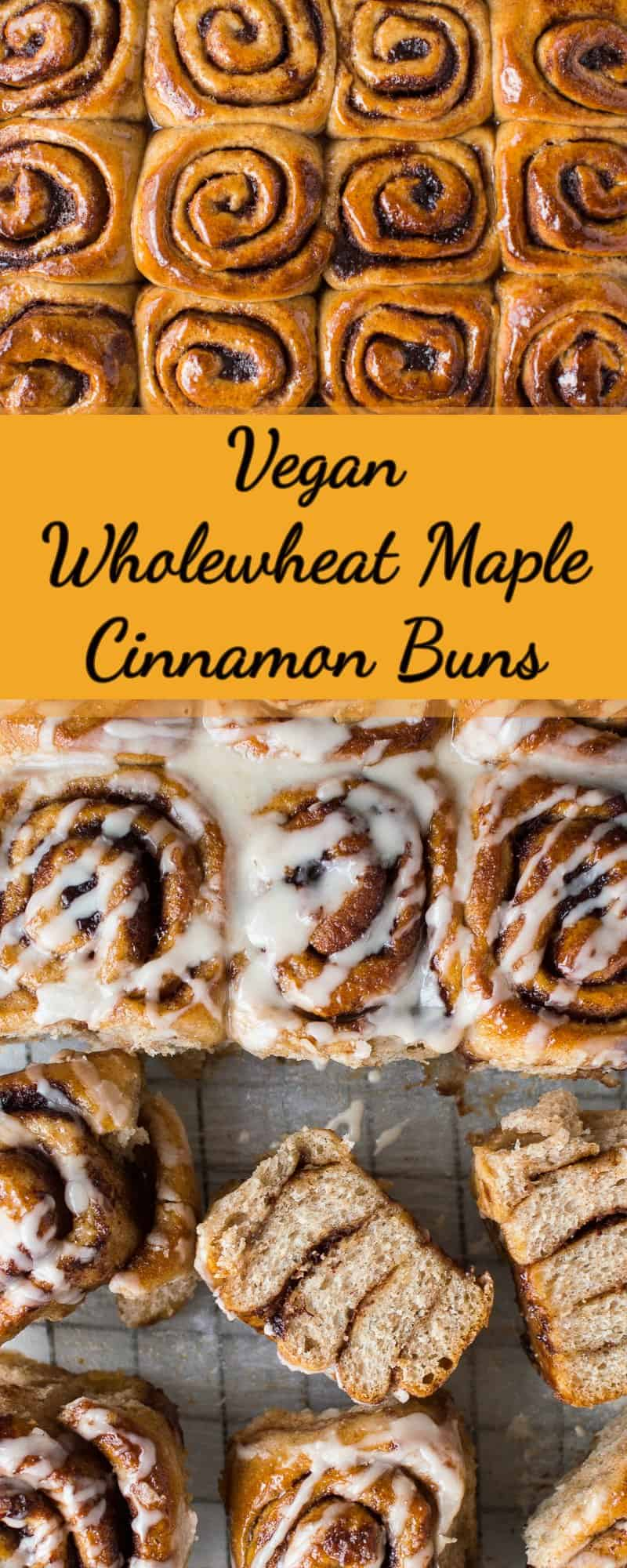 Vegan wholewheat maple cinnamon buns pinterest