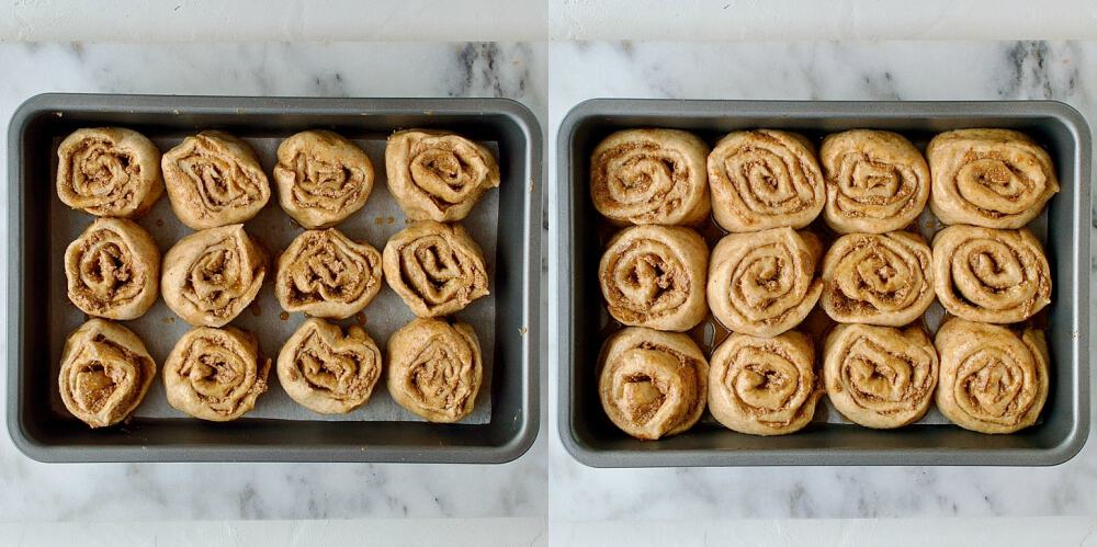 Vegan wholewheat maple cinnamon buns step 5