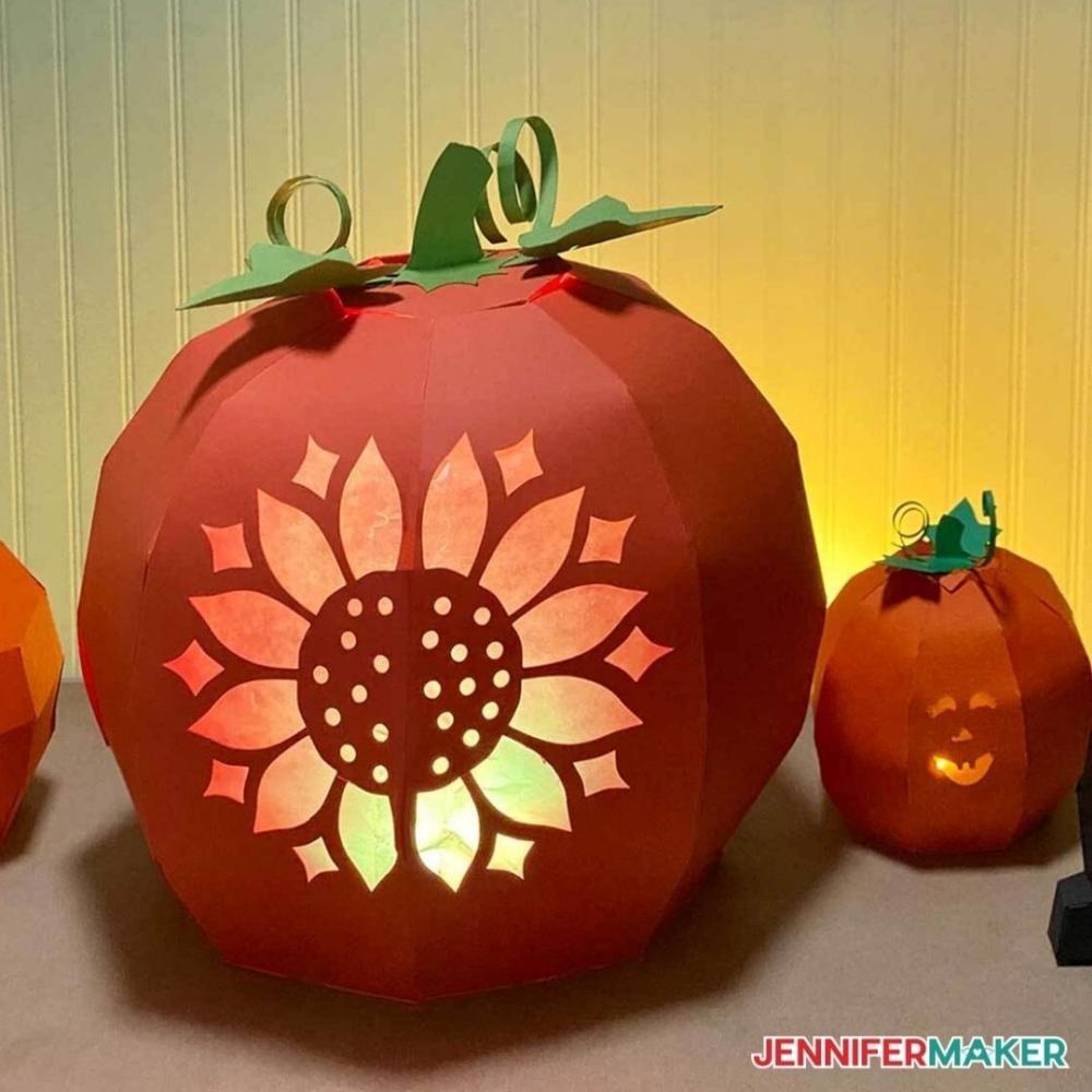 3d paper halloween pumpkin ideas