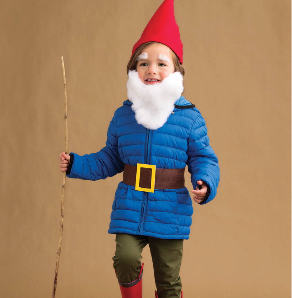 Adorable halloween costume idea for kids gnome