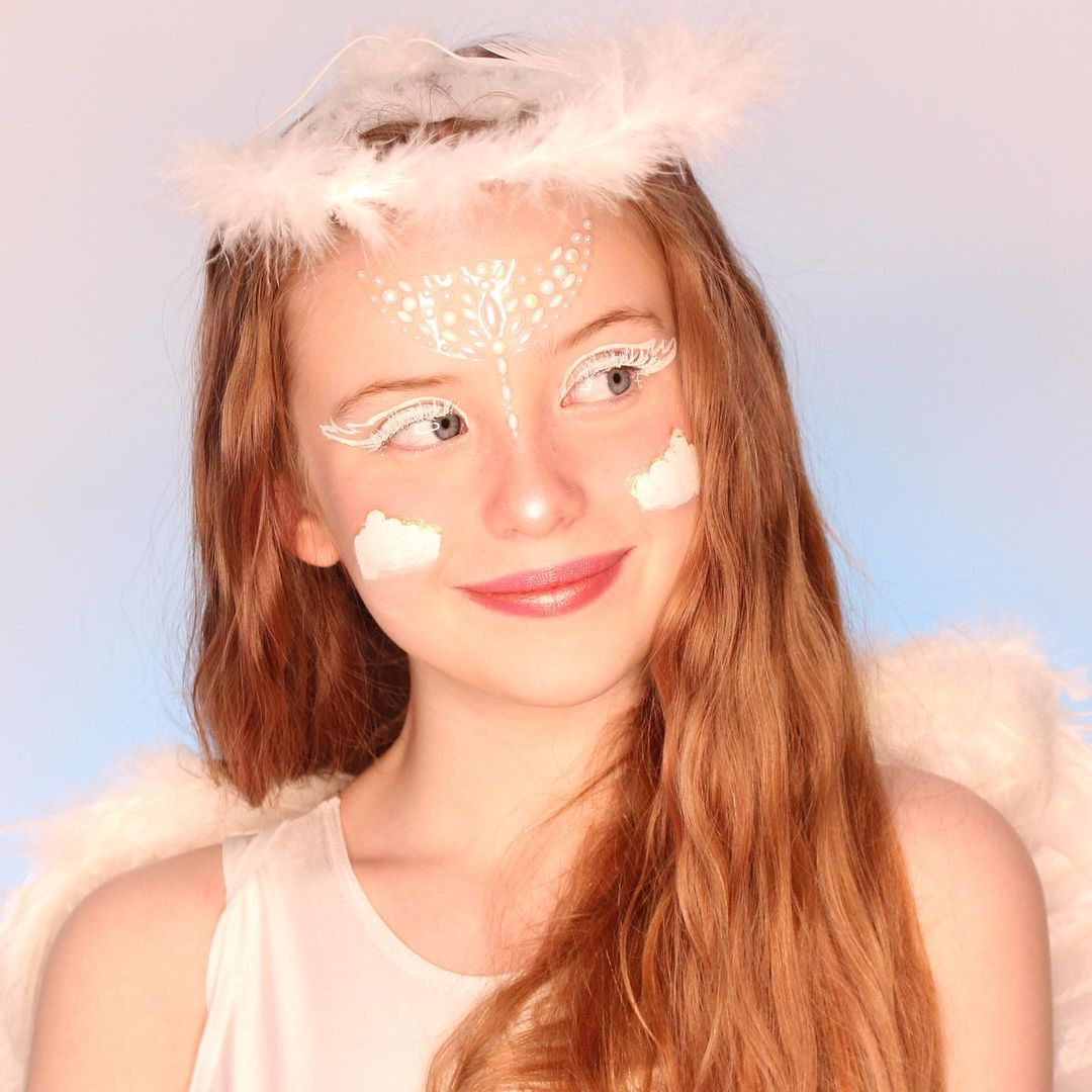 Angel halloween makeup every angel has wings