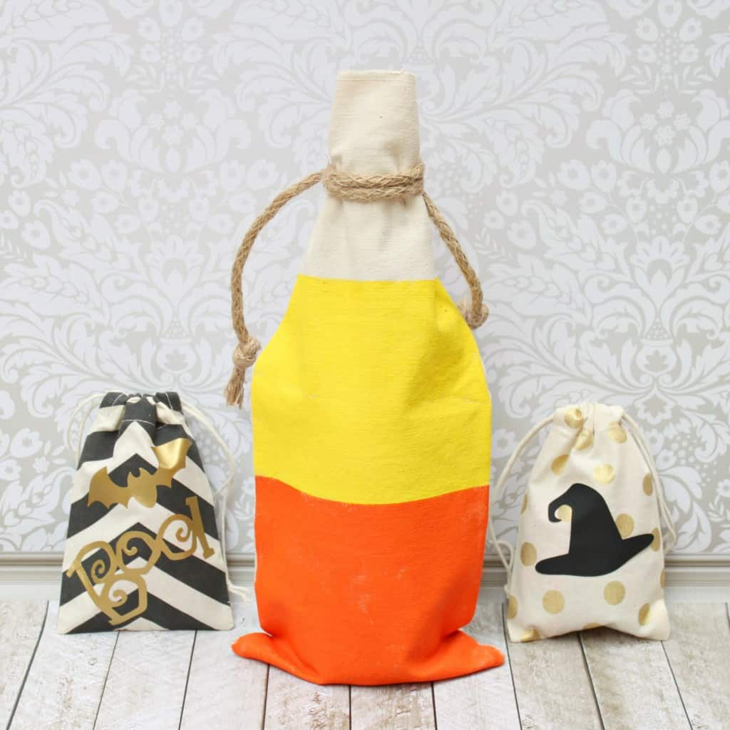 Candy corn halloween party favour bag