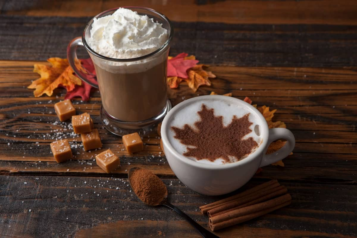 Caramel canadian maple latte