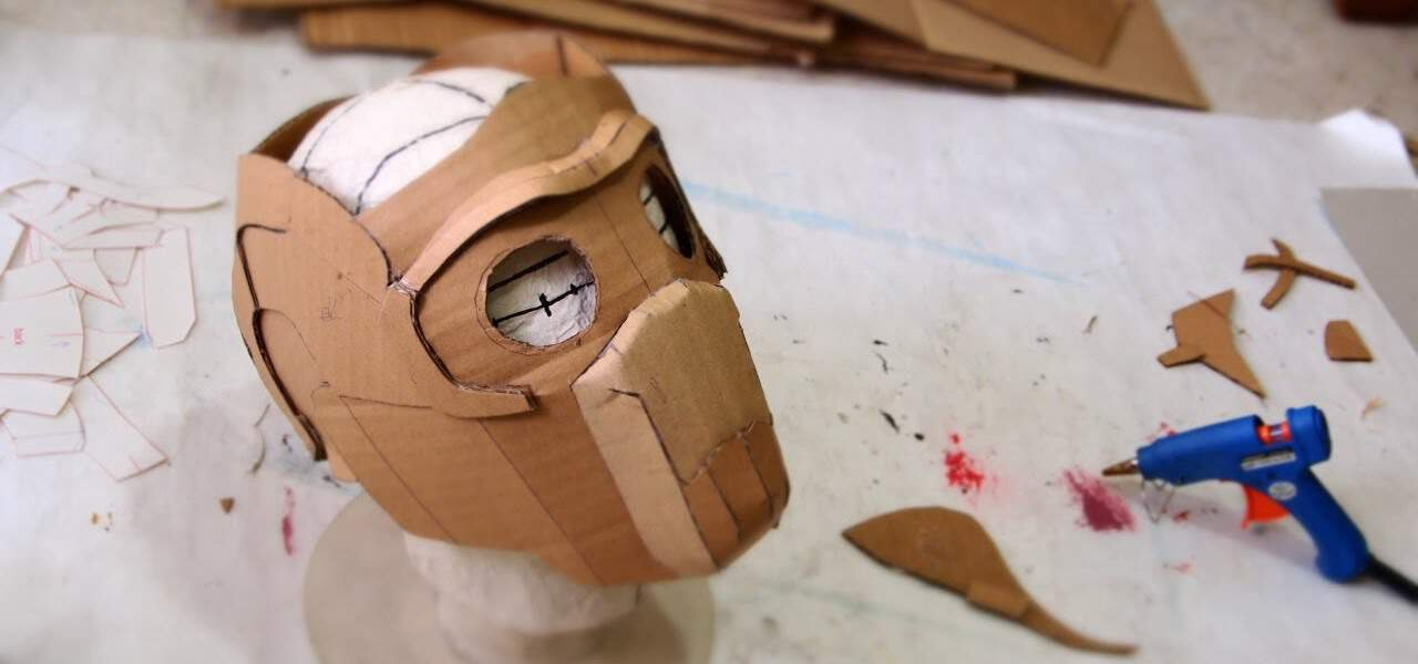 Cardboard star lord mask