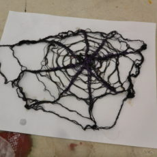 Cellulose and thread cobwebs