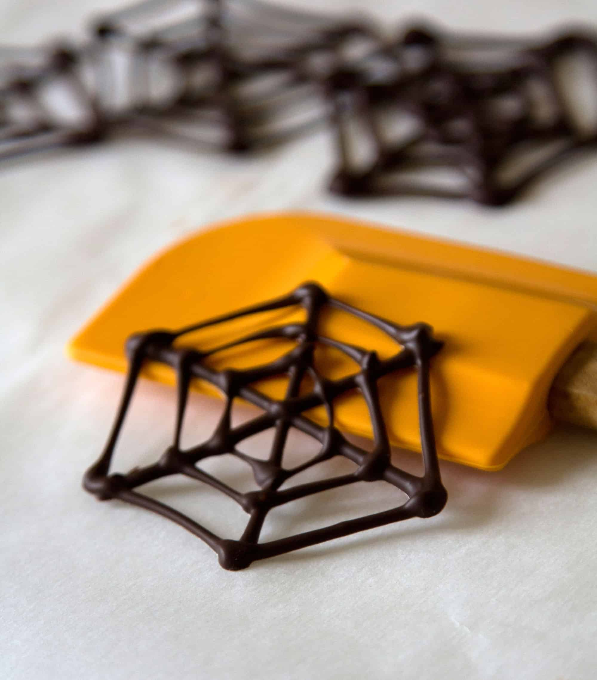 Chocolate spider webs
