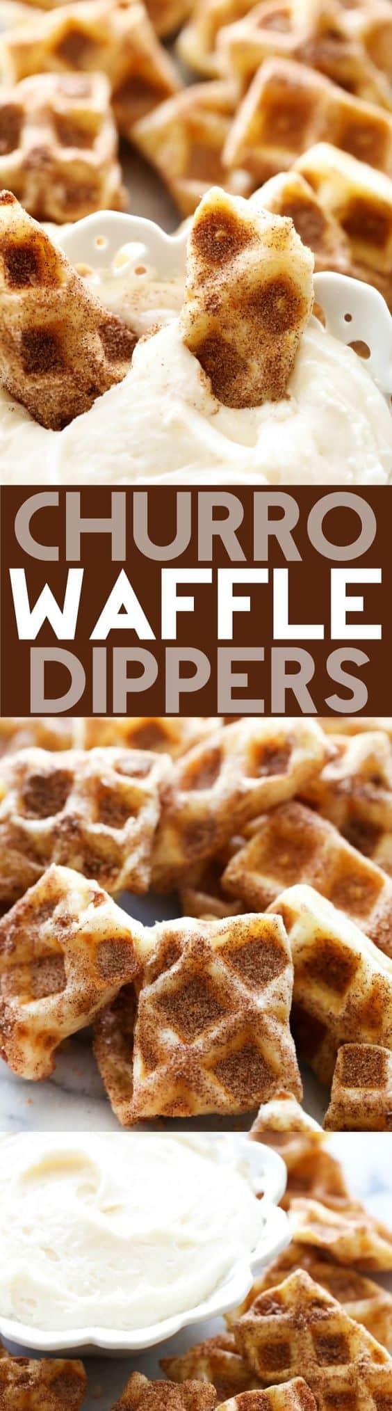 Churro waffle dippers