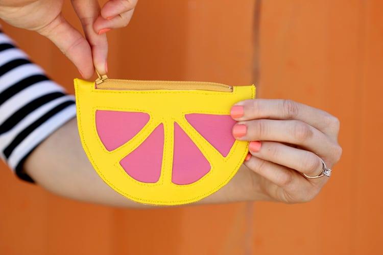 Citrus coin purse diy