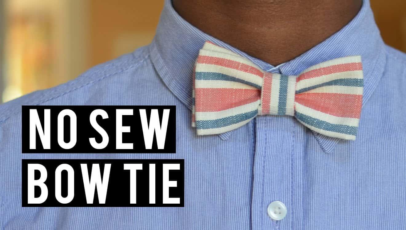 Classy no sew bow tie