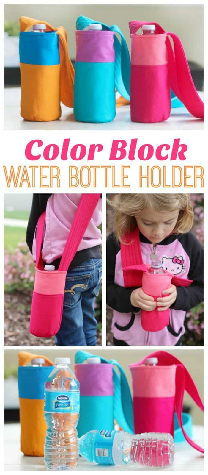 Colour block water bottle holder