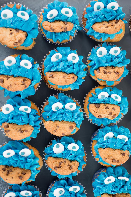Cookie monster cupcakes school party healthy halloween snacks