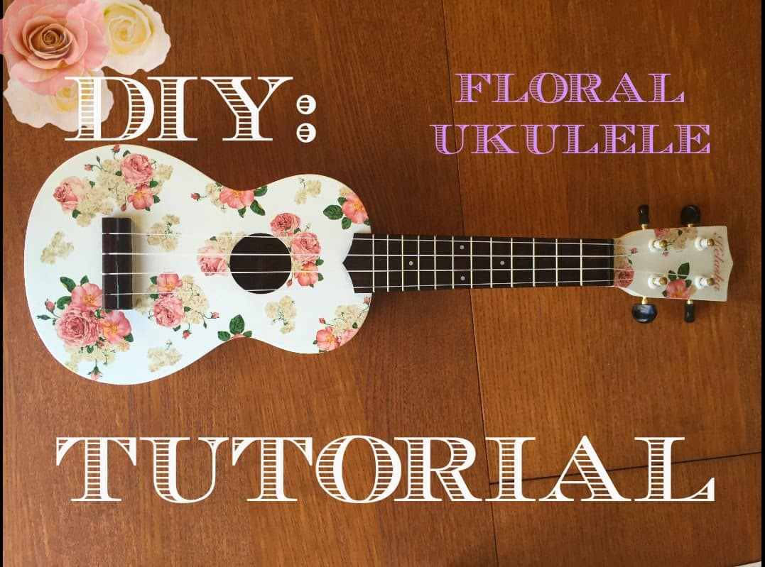 Super fun guitar themed crafts cute floral ukelele solutioingenieria Image collections