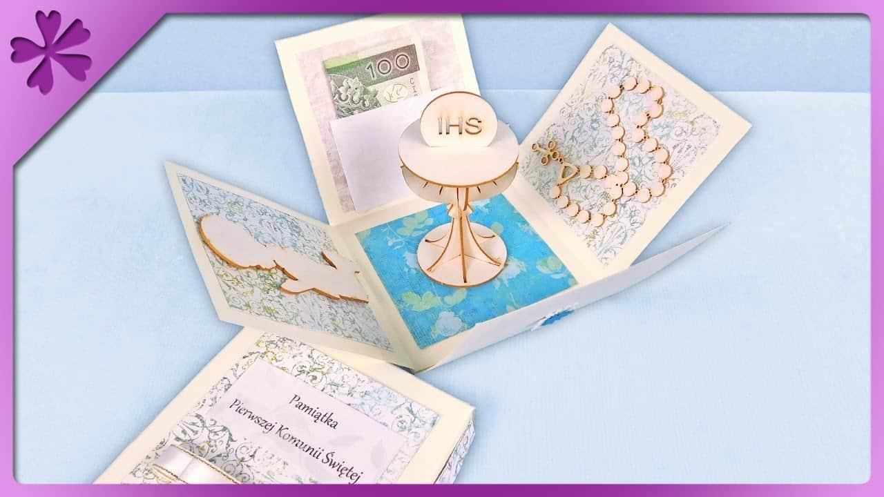 Cute wood diy first communion card