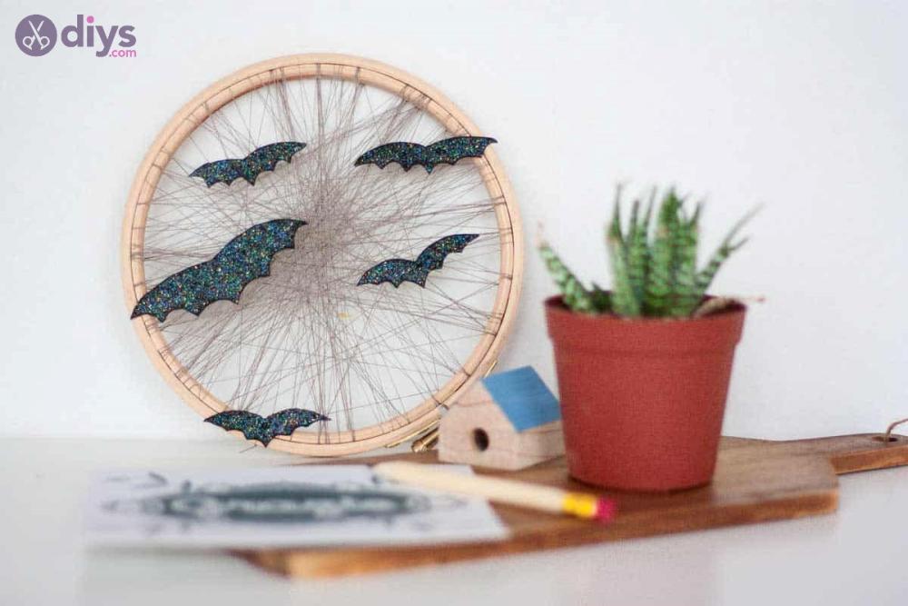 Diy embroidery hoop halloween crafts for kids