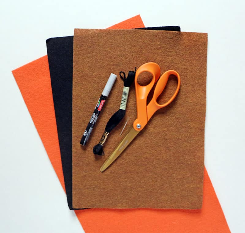 Diy mini felt pumpkin tote materials